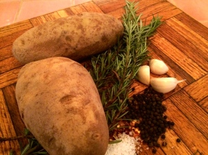 Rosemary-Garlic potatoes have only a few ingredients.