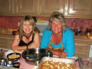 With Theresa in my kitchen in 2011, two moms bonding over food
