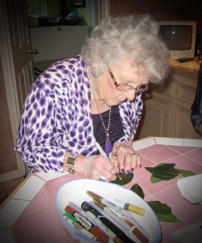 My grandmother was thankful for grandchildren and great-grandchildren.