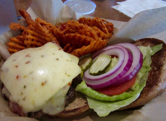 Burger at Frey's Backyard 2