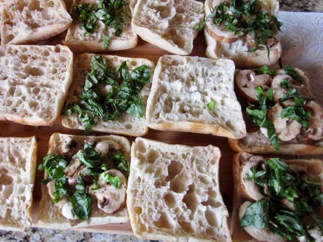 Panini with Mushrooms and Basil