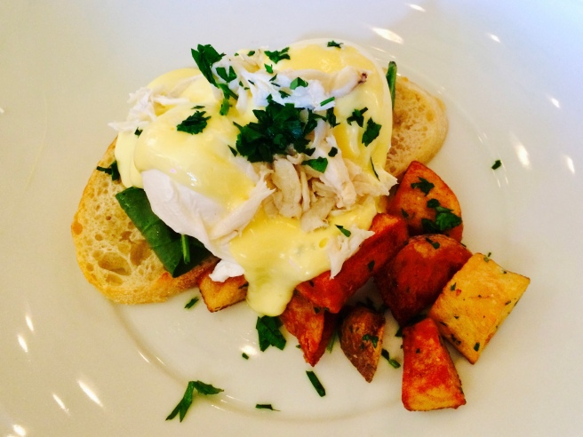 Crab Benedict at Cru