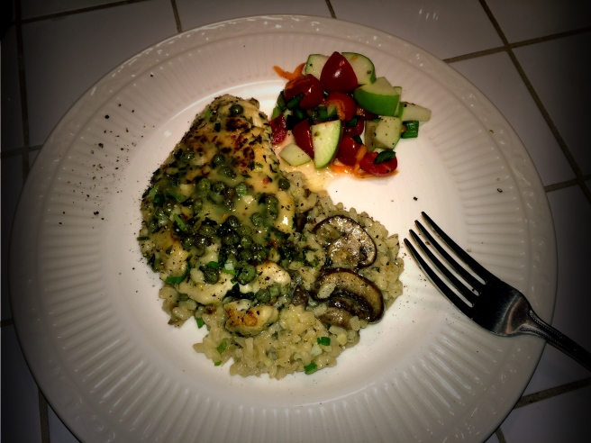 Chicken Piccata, Risotto and Perky Salad.jpg